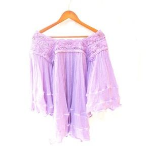 Mexican Blouse Angel Bell Sleeves Gauze Tunic